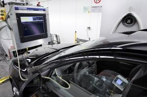 Ein Skoda Octavia (LPG) im Klimaanlagentest beim Ecotest des ADAC. Foto: ADAC