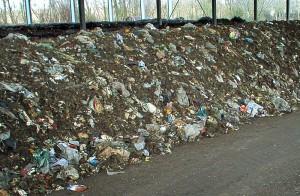 Im Bioabfall sind Fremdstoffe zu sehen, die den Abbau erschweren. Dazu gehören laut Umwelthilfe auch Biotüten von Aldi und Rewe. Foto: Deutsche Umwelthilfe