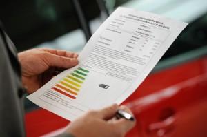 Datenblatt zur angeblichen CO2-Effizienz. Foto: Deutsche Energie-Agentur GmbH (dena) / Ingo Heine