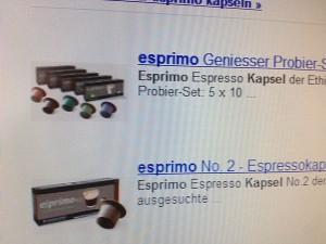 Esprimo-Kapseln von der Ethical Coffee Company sind eine Alternative zu Nespresso-Kapseln.
