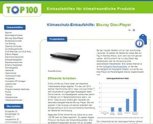 Screenshot ecotop100.de