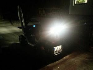 Erste Rückwärtsfahrt in die Garage, wo es Strom für den Renault Twizy gibt. Zwei Wochen lang berichte ich, wie sich der Twizy im Alltag schlägt.