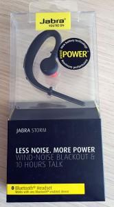 Das Jabra Storm: Angenehm für den Gesprächspartner, aber beim Tragekomfort nicht ganz perfekt.